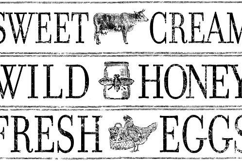 """Farm Fresh Signage 14.25""""x24"""" Decor Transfer"""