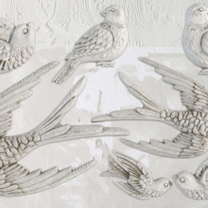 "Birdsong Decor Mould 6""x10"""