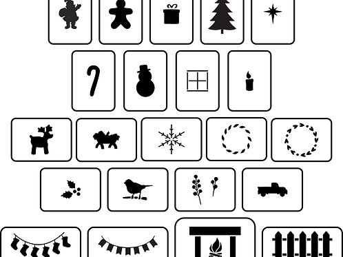 Christmas House Accessories Stencil