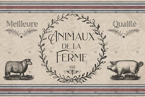 "'De La Ferme' JRV Decoupage Paper 20""x30"""