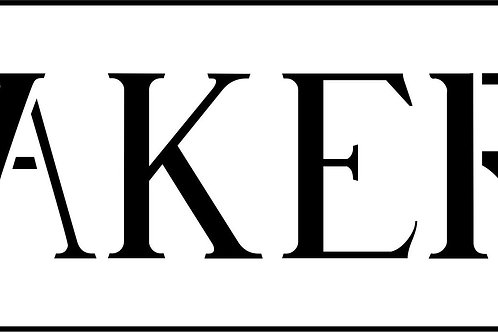 """Bakery Word 6""""x17.5"""""""