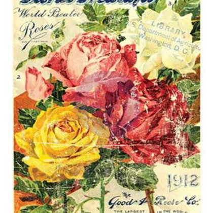 "First Generation: Floral Treasure decor transfer 24""x36"""