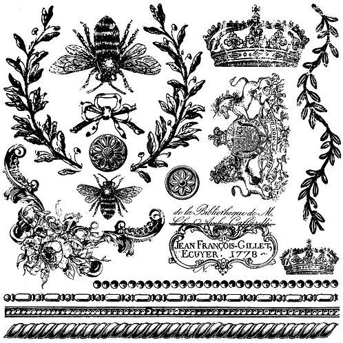 """Queen Bee Decor Stamp 12""""x12"""""""