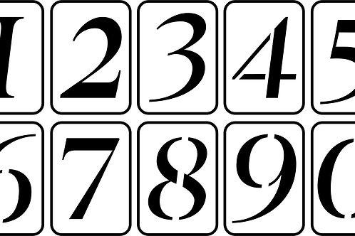 """3.35"""" Number Set"""
