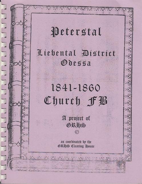1841-1860 Liebental Odessa Church Records