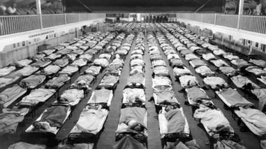 Massive Spanish Flu Temporary Center.