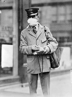 Mail Carrier During Spanish Flu