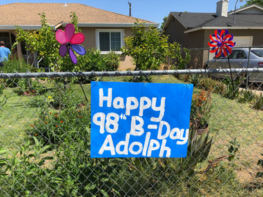 Happy 98-B-Day Sign