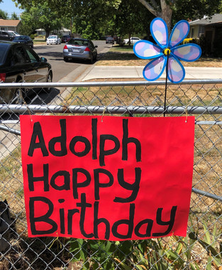 Red Happy Birthday Sign