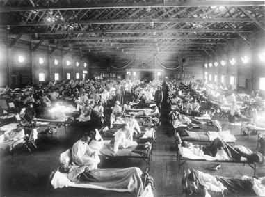 Camp Funston KS Influenza Hospital