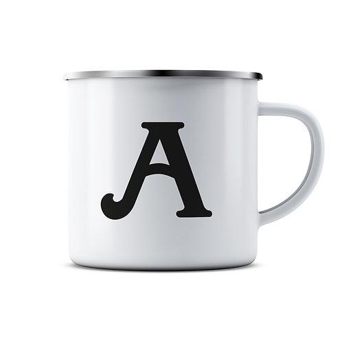 Personalised Initials Enamel Mug