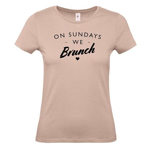 On Sunday We Brunch Womens Tshirt