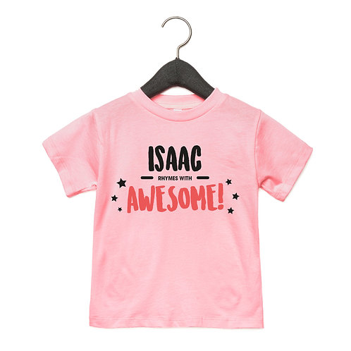 Personalised Rhymes with Awesome Toddler T-Shirt