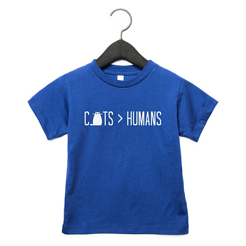 Cats Over Humans Toddler T-Shirt