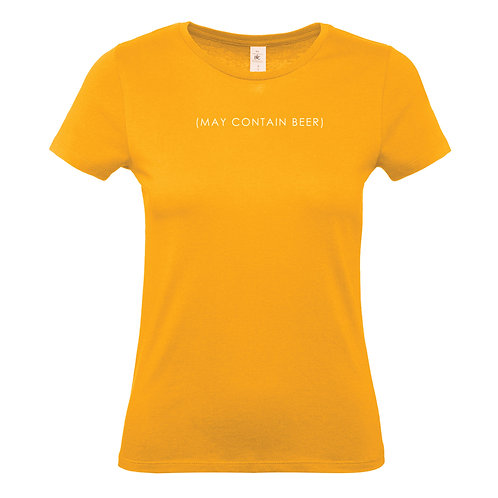 May Contain Beer ladies tshirt