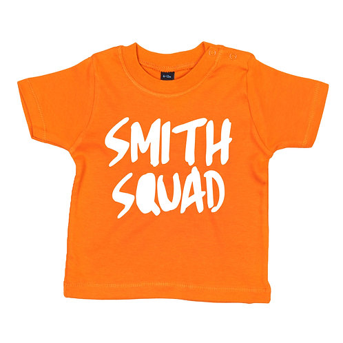 Personalised Baby Squad Name T-Shirt