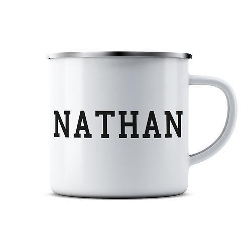 Personalised Name Enamel Mug