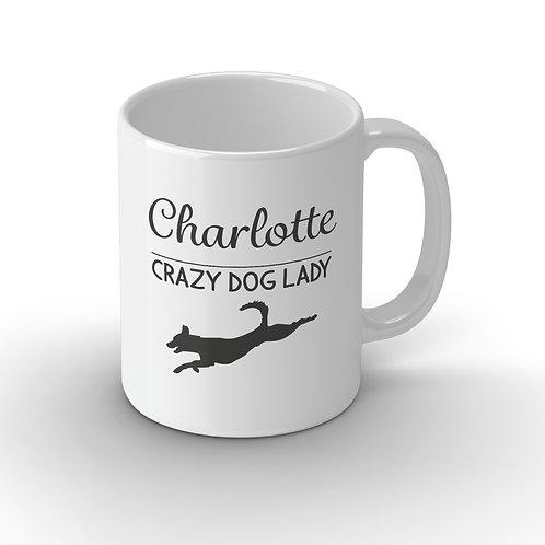 Personalised Crazy Dog Person Ceramic Mug