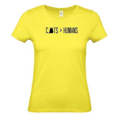 Cats Over Humans Women's T-Shirt