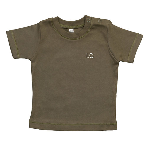 Embroidered Initials Baby Tshirt