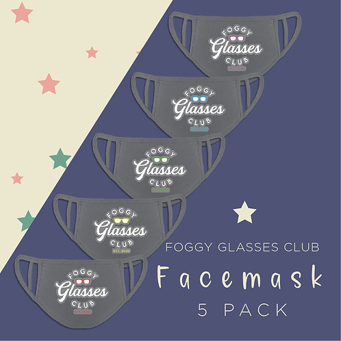 Foggy Glasses Reusable Face Coverings
