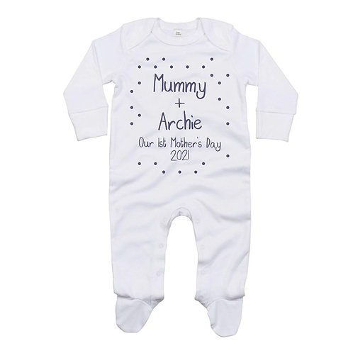 1st Mother's Day Baby Sleepsuit