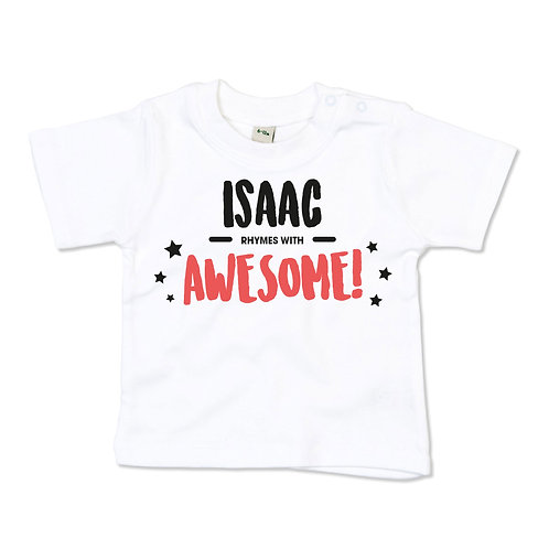 Rhymes with awesome baby tshirt