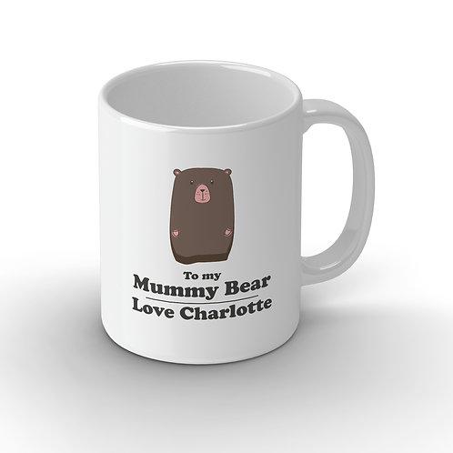 Personalised Family Bear Ceramic Mug