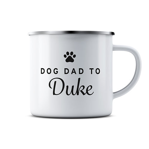 Personalised Dog Parent Enamel Mug