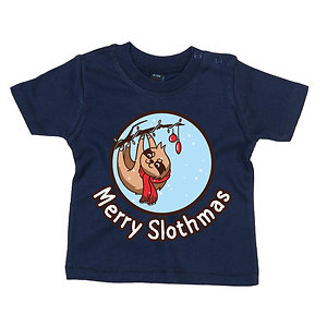 Christmas Sloth Baby T-Shirt