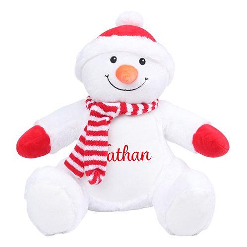 Personalised Snowman Teddy