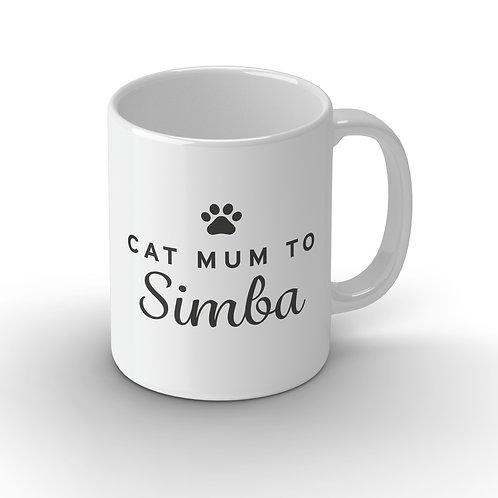 Personalised Cat Parent Ceramic Mug