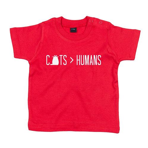 Cats Over Humans BabyTshirt