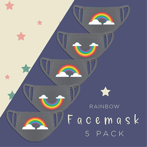 Cute Rainbow Reusable Face Coverings