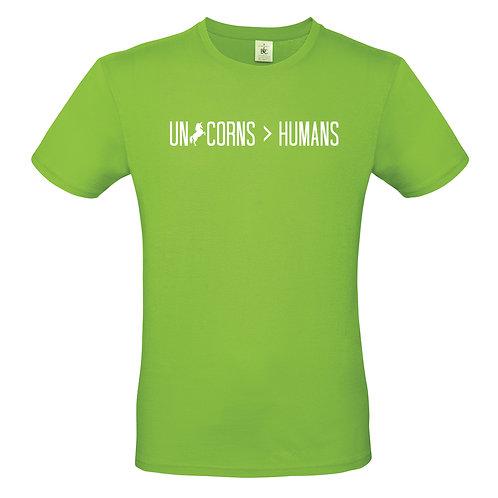 Unicorns Over Humans Mens Tshirt