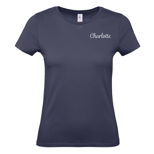 Embroidered Name Ladies Tshirt