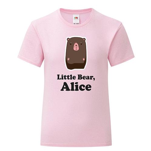 Personalised Little Bear Girls T-Shirt