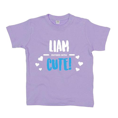 Rhymes with Cute Baby Tshirt