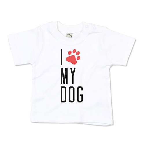 I love my dog baby tshirt