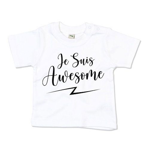 Je Suis Awesome Baby Tshirt