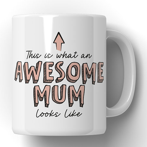 Awesome mum mug