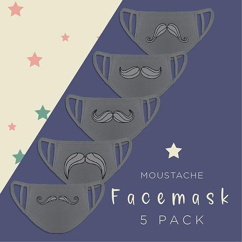 Funny Moustache Reusable Face Coverings