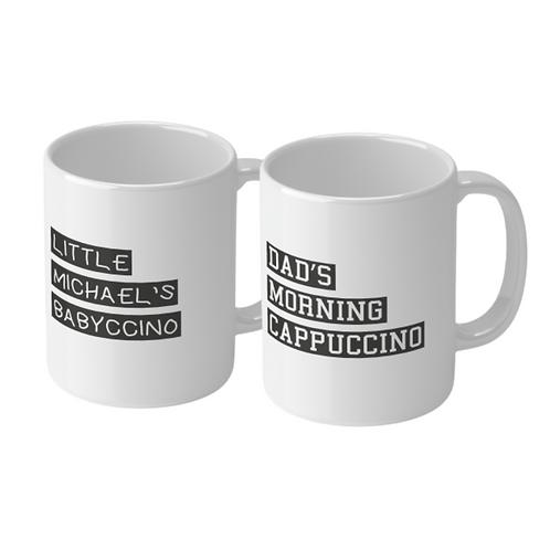 Personalised Cappuccino & Babyccino Mug