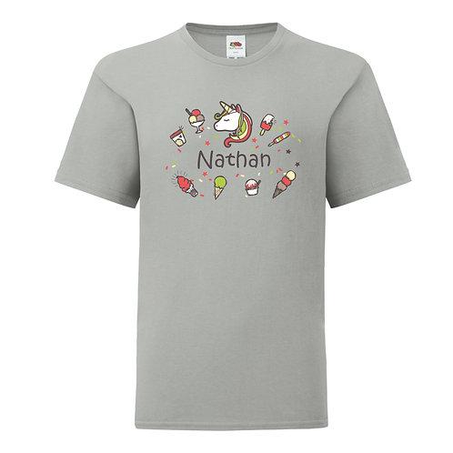 Personalised Unicorn Boys T-Shirt