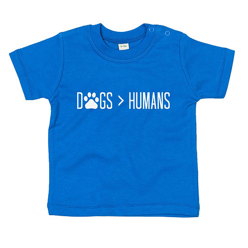 Dogs over humans baby tshirt