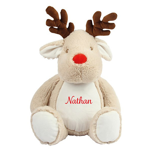 Personalised Reindeer Teddy