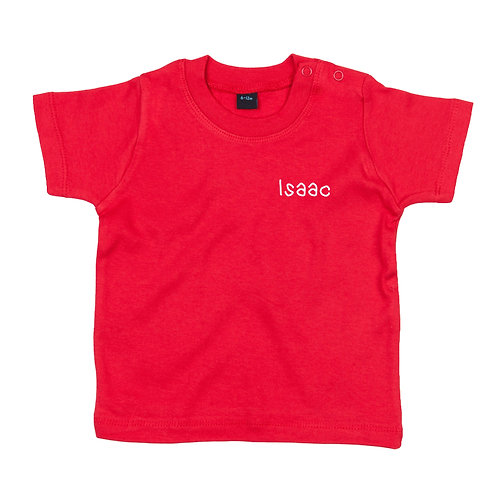 Embroidered name baby tshirt