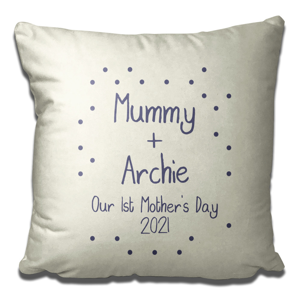 Personalised cushion for first Mother's Day