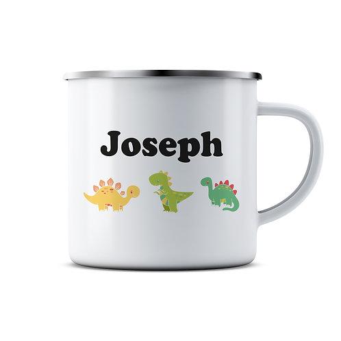 Personalised Dinosaur Enamel Mug