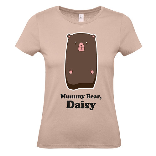 Personalised mummy bear tshirt